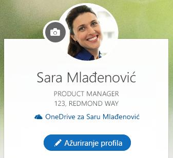 """Kliknite na dugme """"Ažuriraj profil"""" da biste izmenili informacije"""