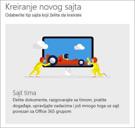 SharePoint Office 365 Kreiranje lokacije