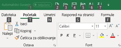 Saveti o tasterskim prečicama za Excel