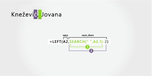 Formula za odvajanje prezimena za kojim slede ime i srednje ime