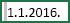 Ćelija sa izabranim razmakom pre 1/1/2016