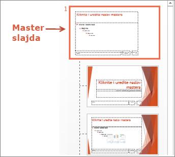 Izaberite master slajda