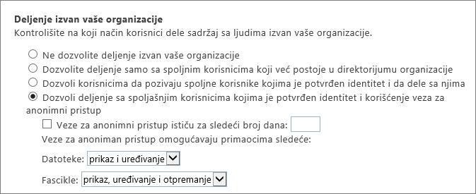 Zakupac spoljnog deljenja stranice