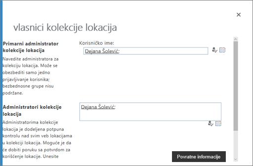 Upravljanje vlasnici u OneDrive
