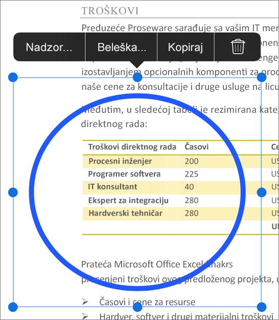 Uređivanje PDF naznaka