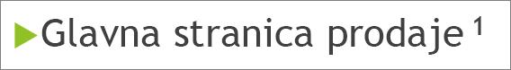 Eksponentni tekst fusnote u telu slajda