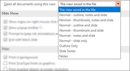 Razvijena je lista Otvori sve dokumente pomoću ovog prikaza tako da klijent može da izabere podrazumevani prikaz.