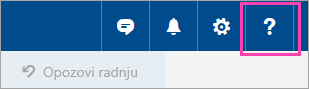 "Snimak ekrana dugmeta menija ""Pomoć"""