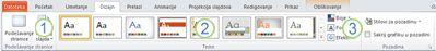 """Kartica """"Dizajn"""" na traci programa PowerPoint 2010."""