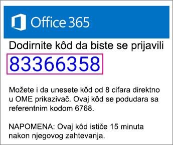 OME prikazivač kôd e-pošte