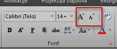 "Grupa ""Font"" u programu Excel"