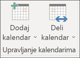 Deljenje kalendara sa drugom osobom.