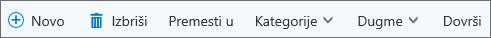 """Komandna traka """"Zadaci"""" za Outlook.com"""