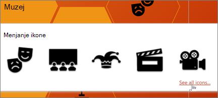 Izbor ikona pozorišta
