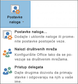 Snimak ekrana dodavanja delegata u programu Outlook