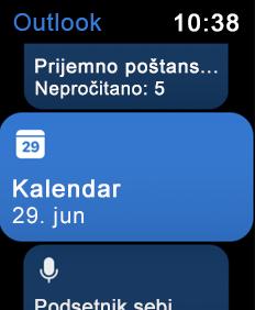 Prikazuje ekran Apple za gledanje