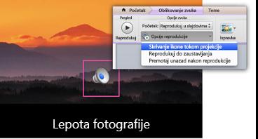 Sakrij ikonu tokom projekcije