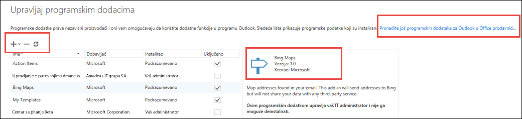 Manage add-ins in Outlook