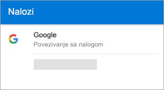 Outlook za Android može automatski da pronađe vaš Gmail nalog.