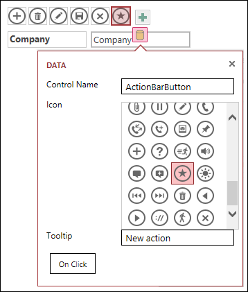 Add custom controls in an access app