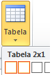 Umetanje tabele opcija