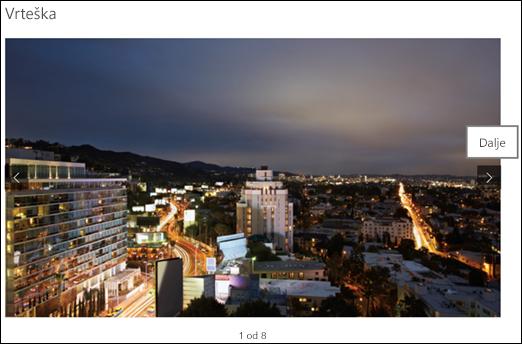 Prikaz slika galerije Web segmenta galerije