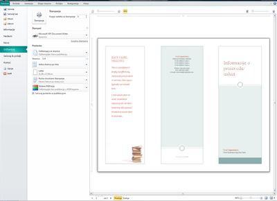 Pregled postavki štampanja programa Publisher