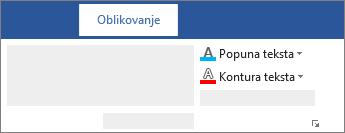 "Opcije ""Popuna teksta"" i ""Prikaz strukture teksta"" na lenjiru"