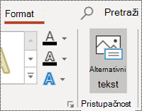 "Dugme ""AltText"" za oblik u programu PowerPoint za Windows"