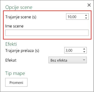 Kontrola za trajanje scene