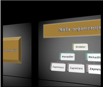 """Prelaz """"Galerija"""" tokom projekcije slajdova"""