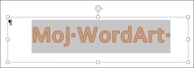 Izabrani WordArt objekti