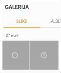 Šifrovana datoteka slike u aplikaciji galerije.