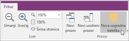 """Snimak ekrana dugmeta """"Nova brza oznaka"""" u programu OneNote 2016."""