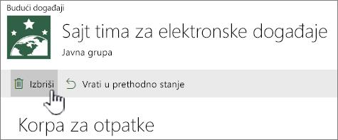 """SharePoint Online za otpatke """"Brisanje stavke"""""""