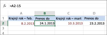 izračunava datum