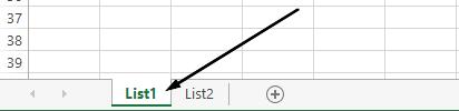 Excel radni list kartice su na dnu prozora programa Excel.