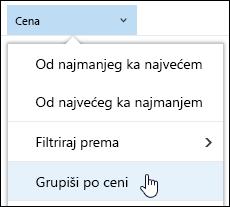 Grupa biblioteka dokumenata po prikazu u sistemu Office 365