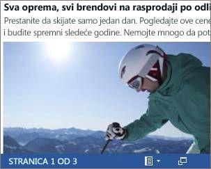 Ugrađeni Word dokument za letak skijaške prodaje