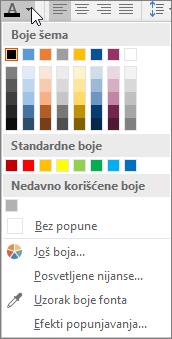 "Paleta ""Boja fonta"""