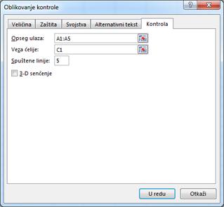 Format control dialog box