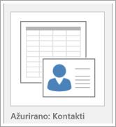 Ikona za opcije predloška baze podataka