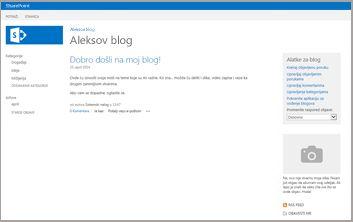 Predložak lokacije bloga