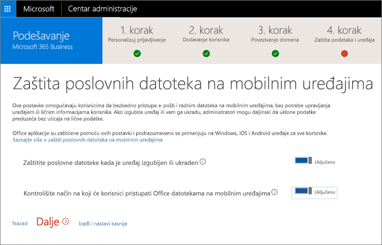 """Snimak ekrana stranice """"Zaštita poslovnih datoteka na mobilnim uređajima"""""""