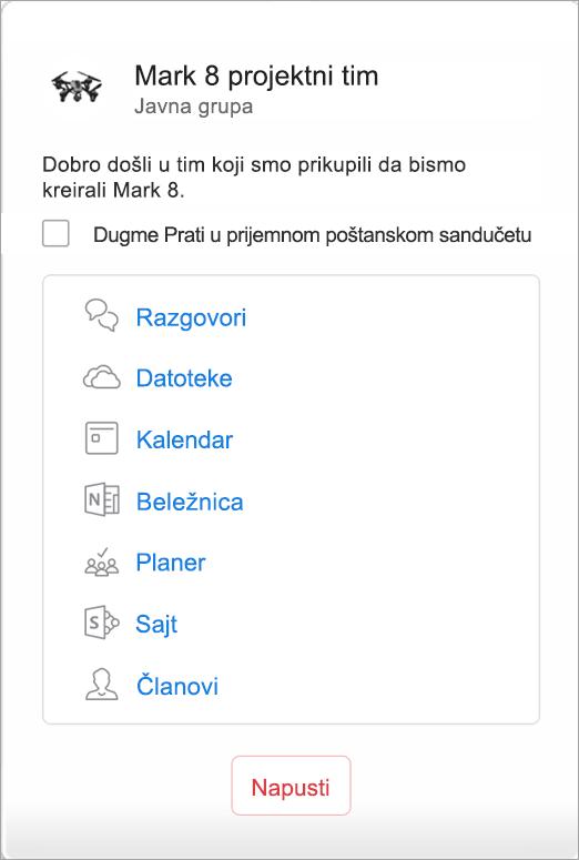 Prikaz programskih dodataka