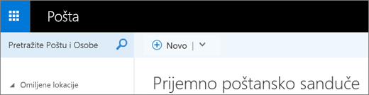 Izgled trake u aplikaciji Outlook Web App