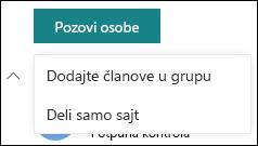 Pozivanje osoba na SharePoint sajt