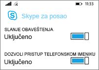 Primajte prosleđene obaveštenja i pretražujte telefon kada tražite kontakte