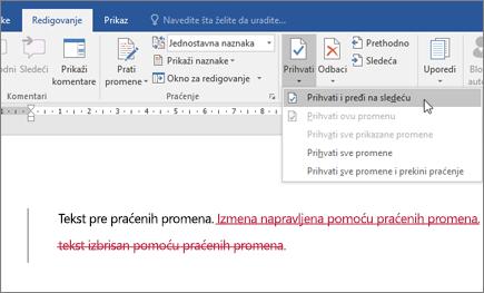 Office 365 Word – praćenje promena