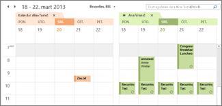 uvezeni naporedni google kalendar u programu Outlook